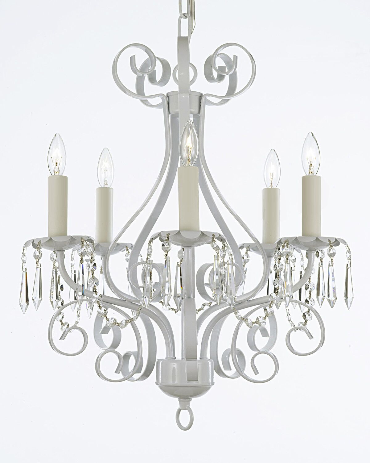 Husman 5-Light Chandelier Finish: White
