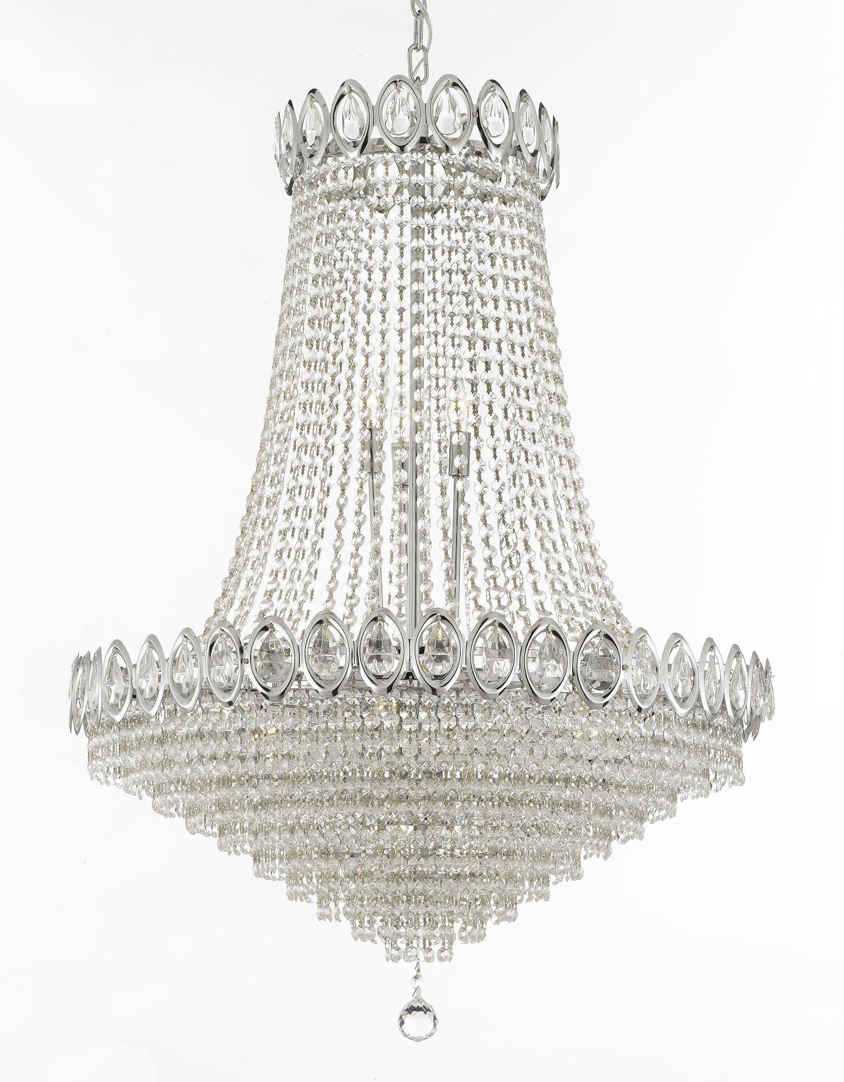 Charvi 9-Light Chandelier Finish: Silver