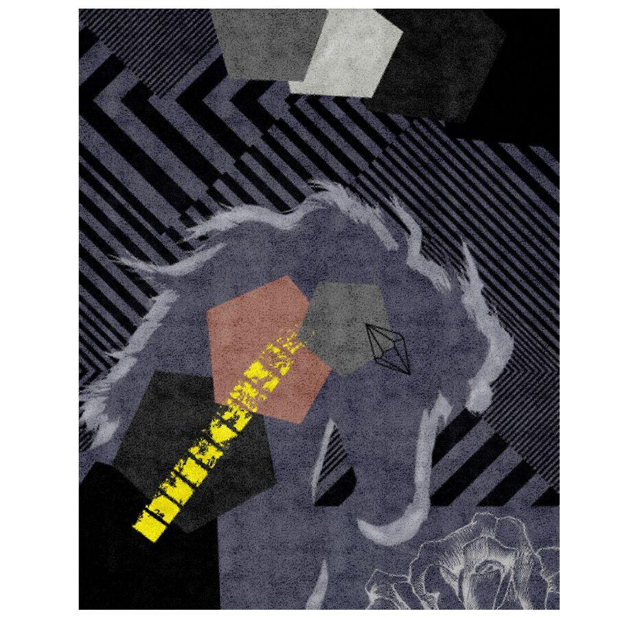 Penta Horse Hand-Tufted Teal Area Rug Rug Size: 5' x 8'