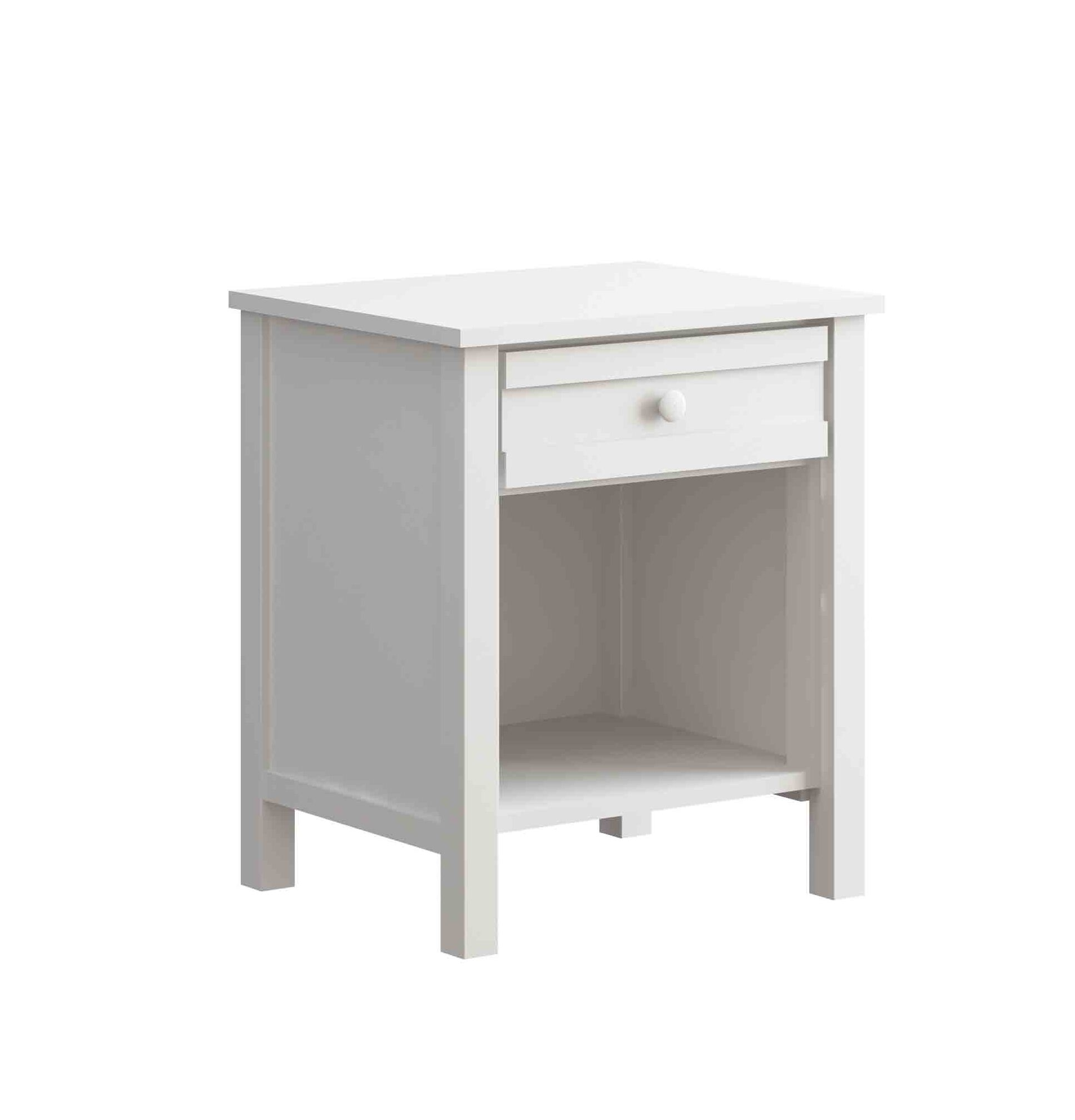 Terrace 1 Drawer Nightstand Color: White