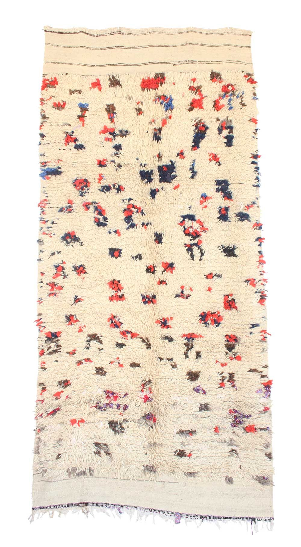 Azilal Hand Woven Wool Beige/Red Area Rug