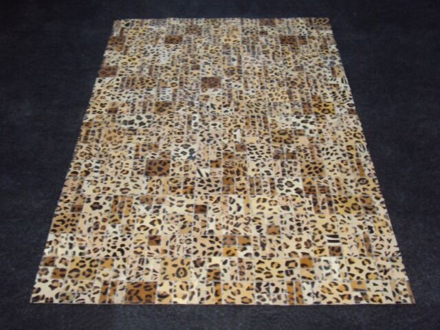 Patchwork Print Cheetah Area Rug Rug Size: Rectangle 3' x 5'