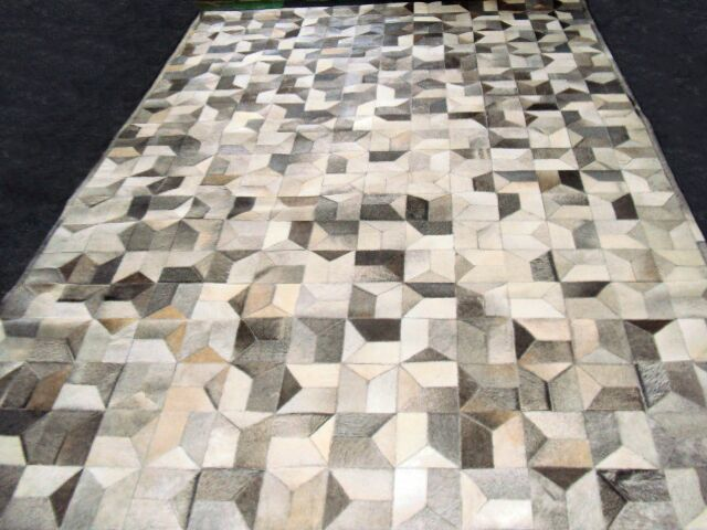Patchwork Multi Geo Gray Area Rug Rug Size: Rectangle 5' x 8'