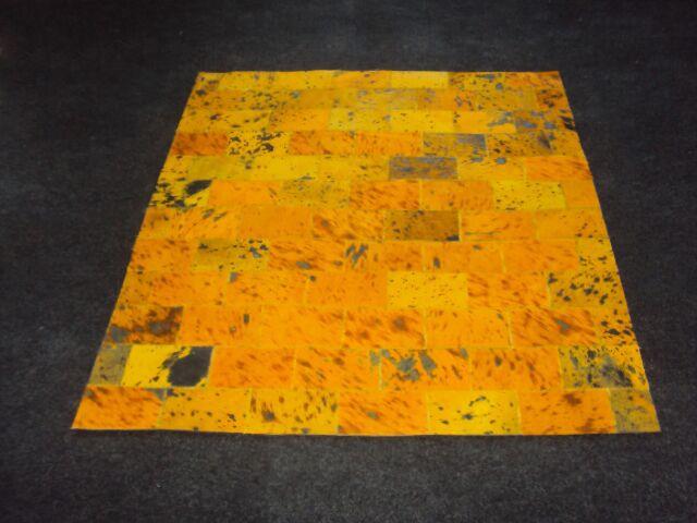Patchwork II Yellow Citrine Area Rug Rug Size: Rectangle 6' x 9'