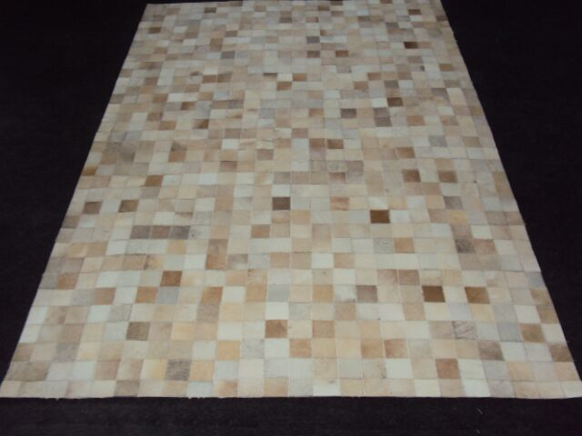 Patchwork Ivory Area Rug Rug Size: Square 4'