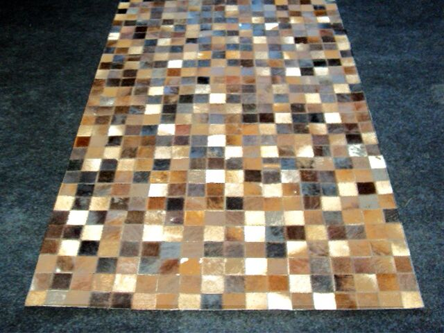 Patchwork Static Brown Area Rug Rug Size: Rectangle 3' x 5'