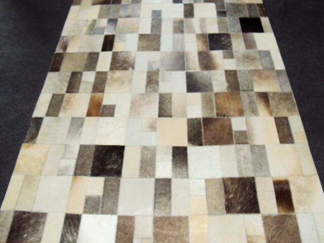 Patchwork Disruption II Neutral Area Rug Rug Size: Rectangle 5' x 8'