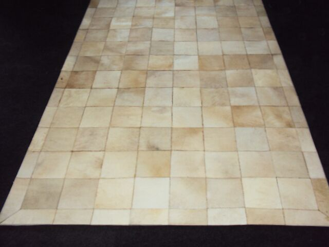Patchwork Ivory Box Area Rug Rug Size: Rectangle 6' x 9'