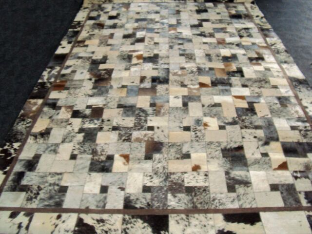 Patchwork Bordered Salt/Pepper Area Rug Rug Size: Rectangle 5' x 8'