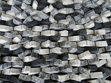 Cobblestone Silver Area Rug Rug Size: Rectangle 5' x 7'