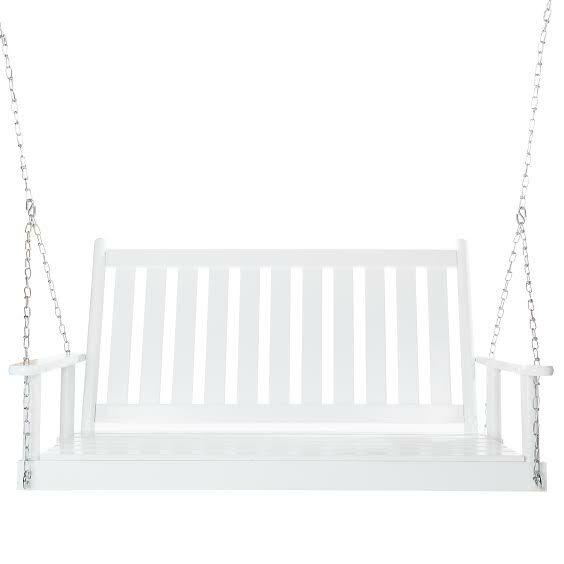Asheboro Porch Swing Finish: White