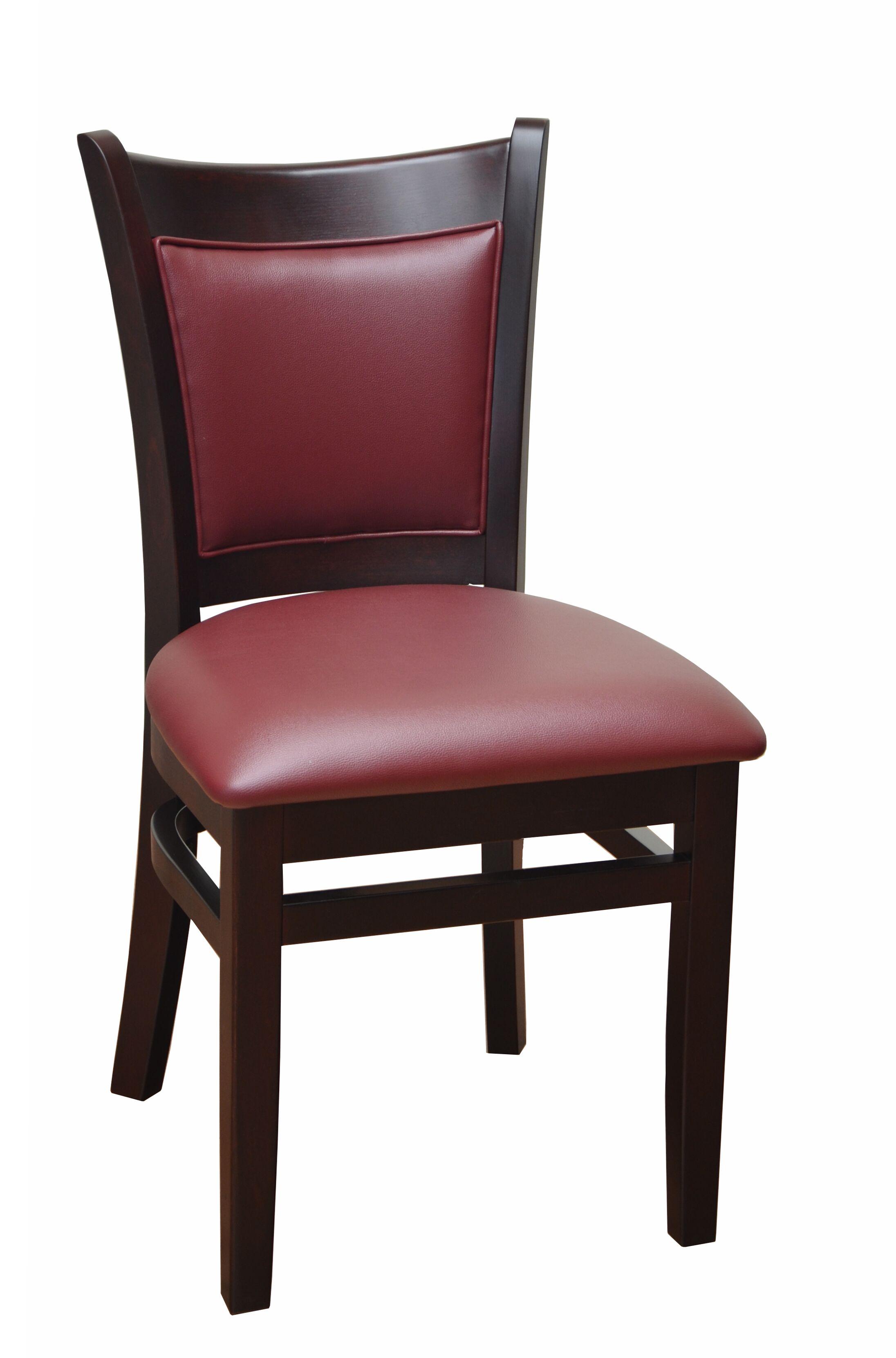 Side Chair Upholstery: Burgundy