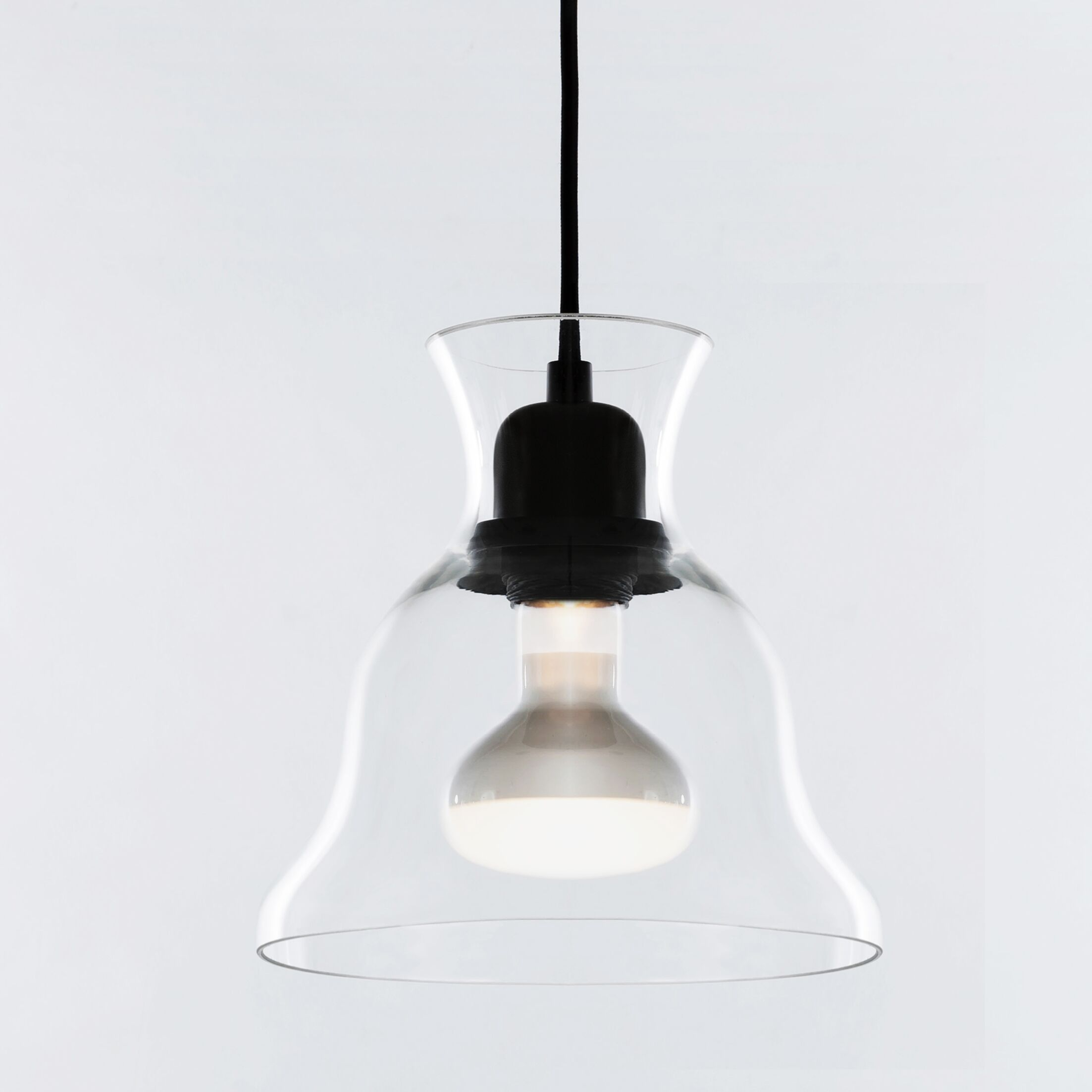 Salute 1-Light Bell Pendant Shade Color: Clear