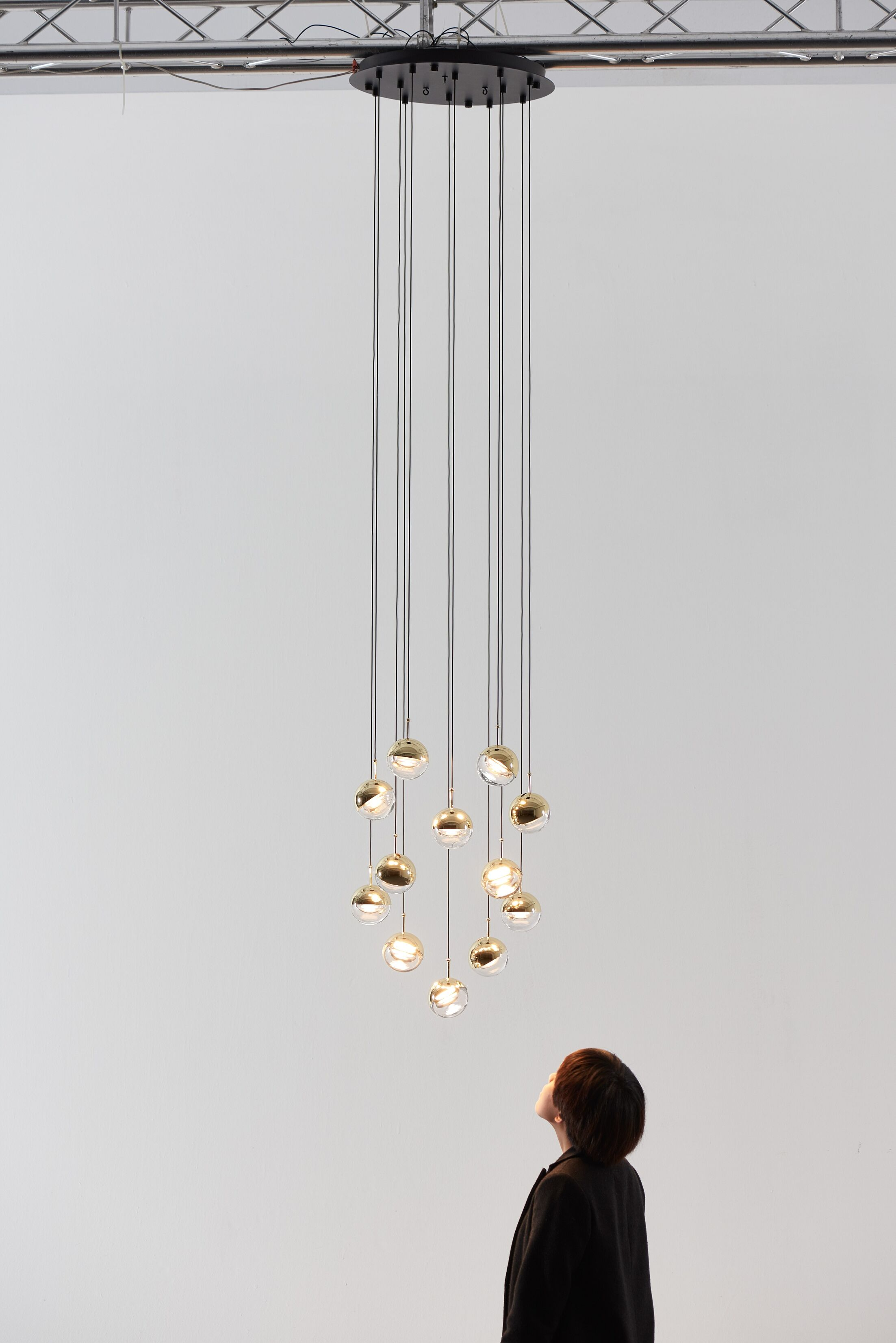 Dora 12-Light  LED  Pendant Finish: Brass