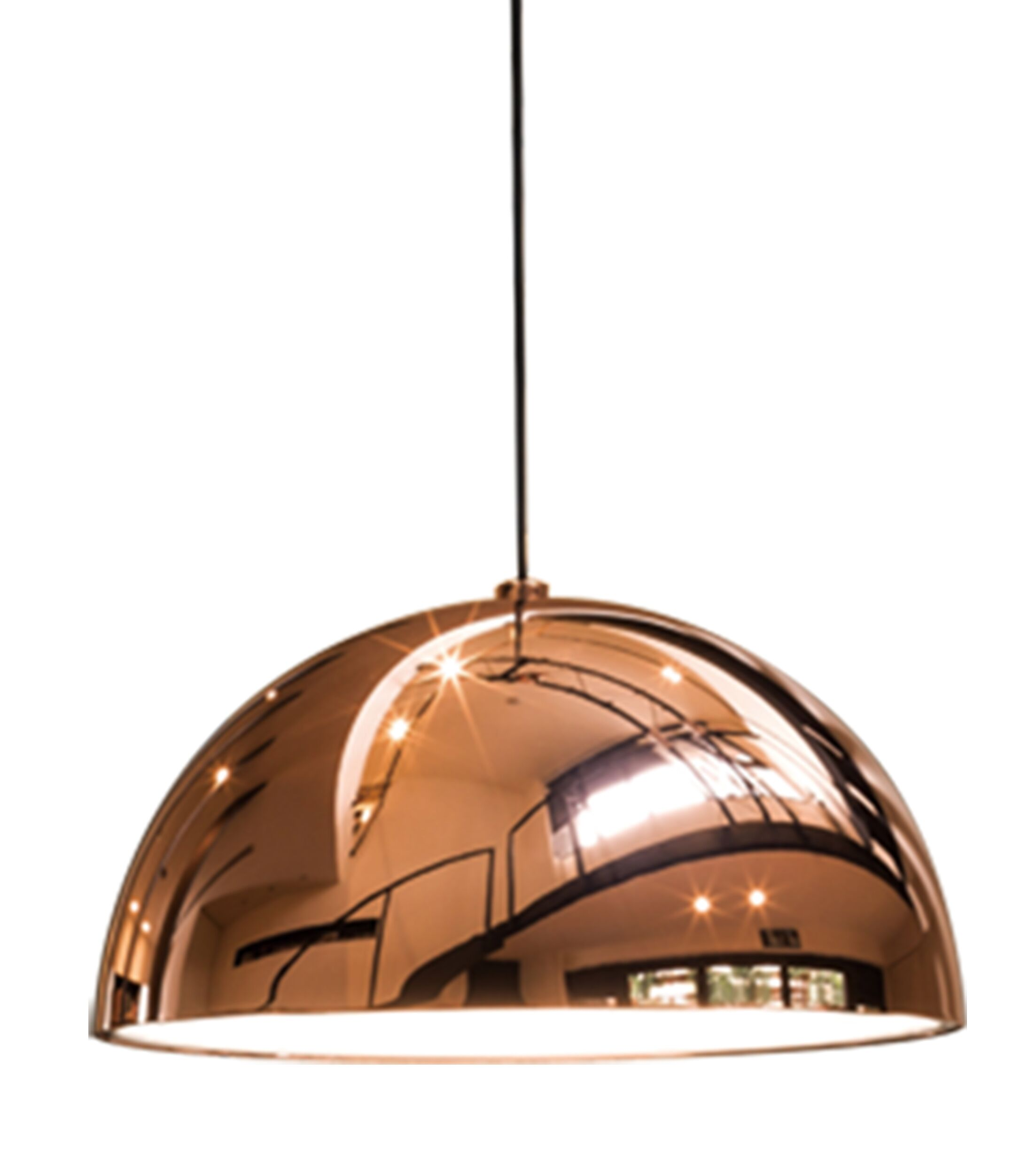 1-Light Inverted Pendant Shade Color: Copper, Size: Large