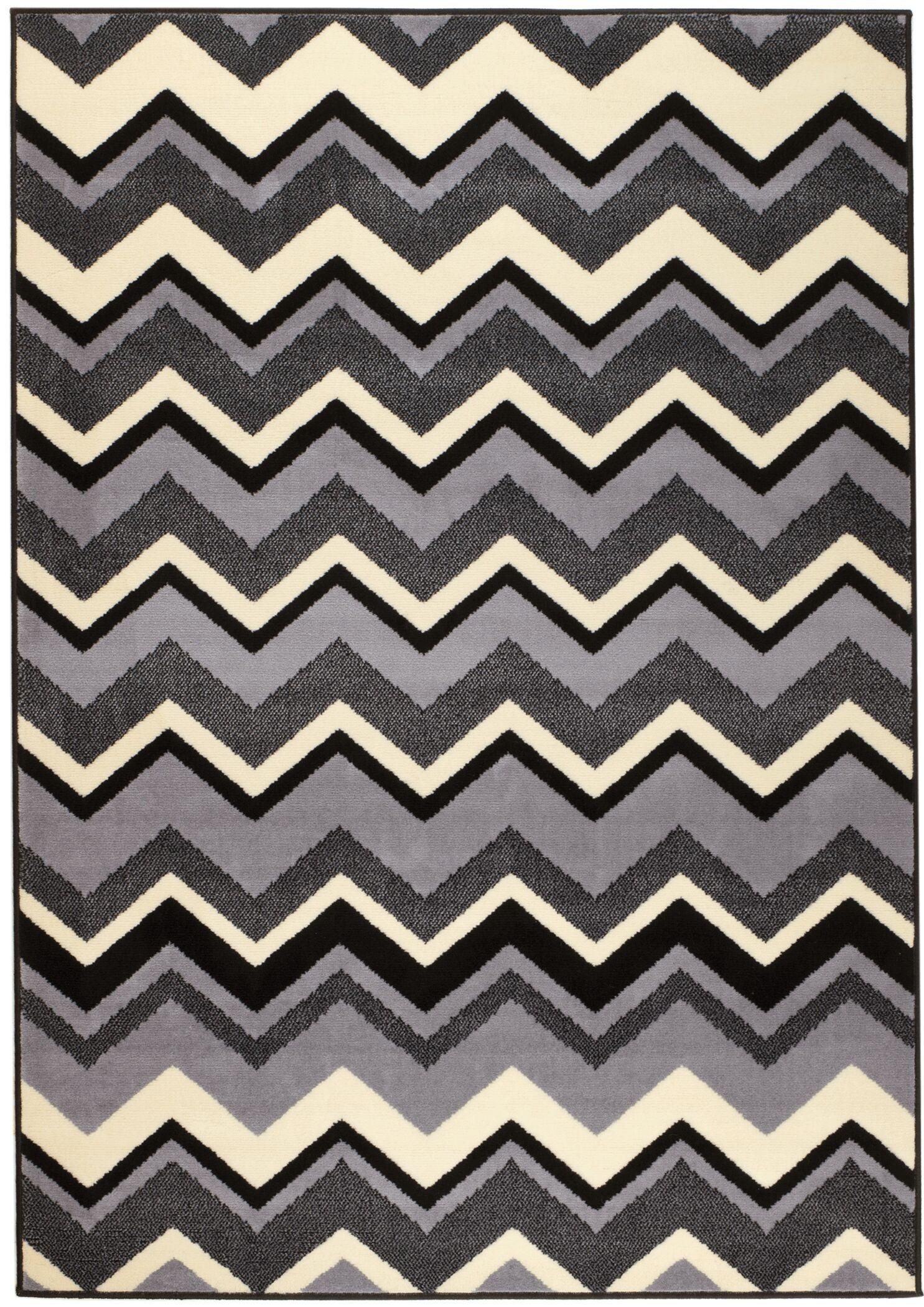 Steptoe Black/Gray Area Rug Rug Size: 1'10