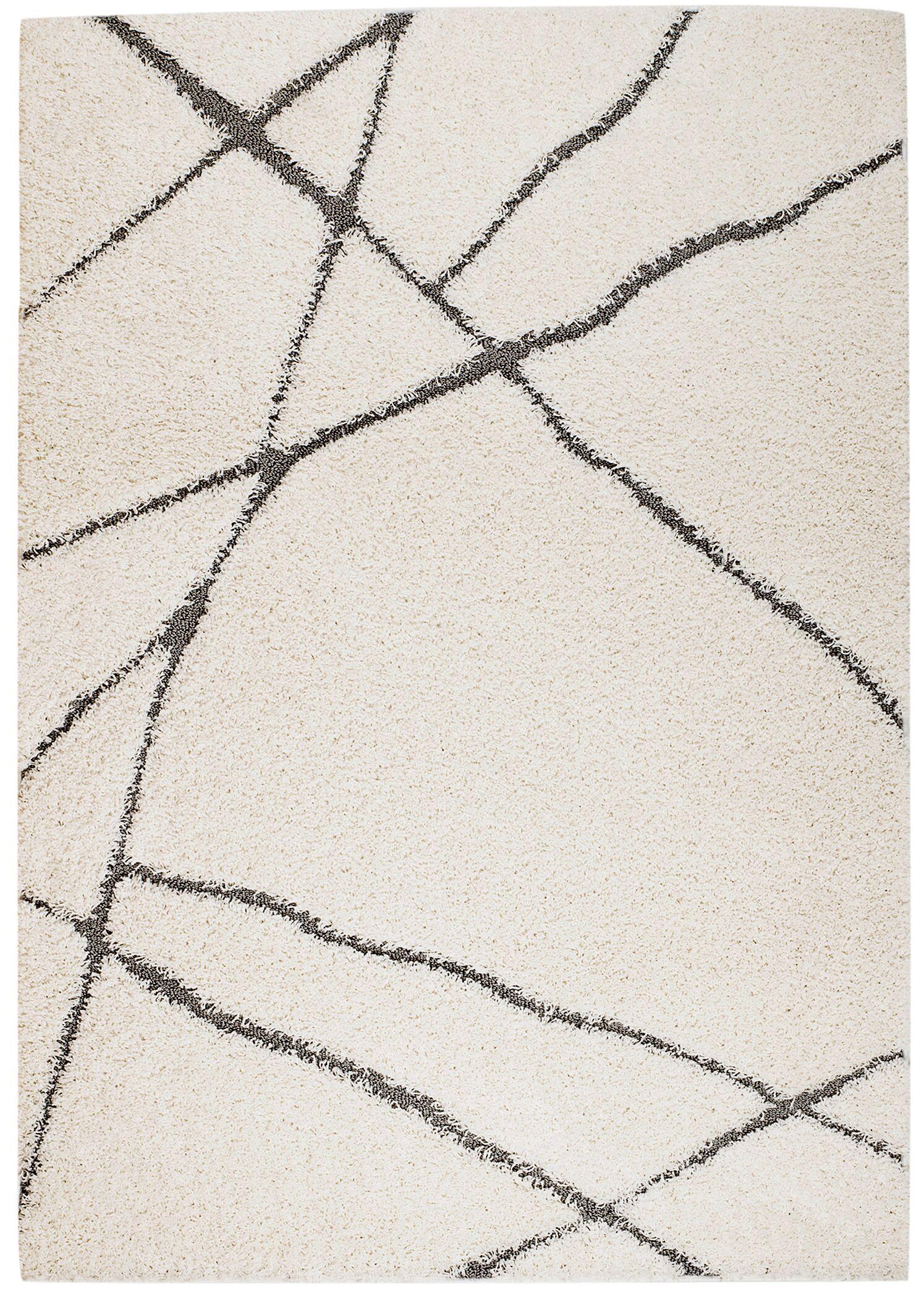 Quaoar White Area Rug Rug Size: 2' x 3'