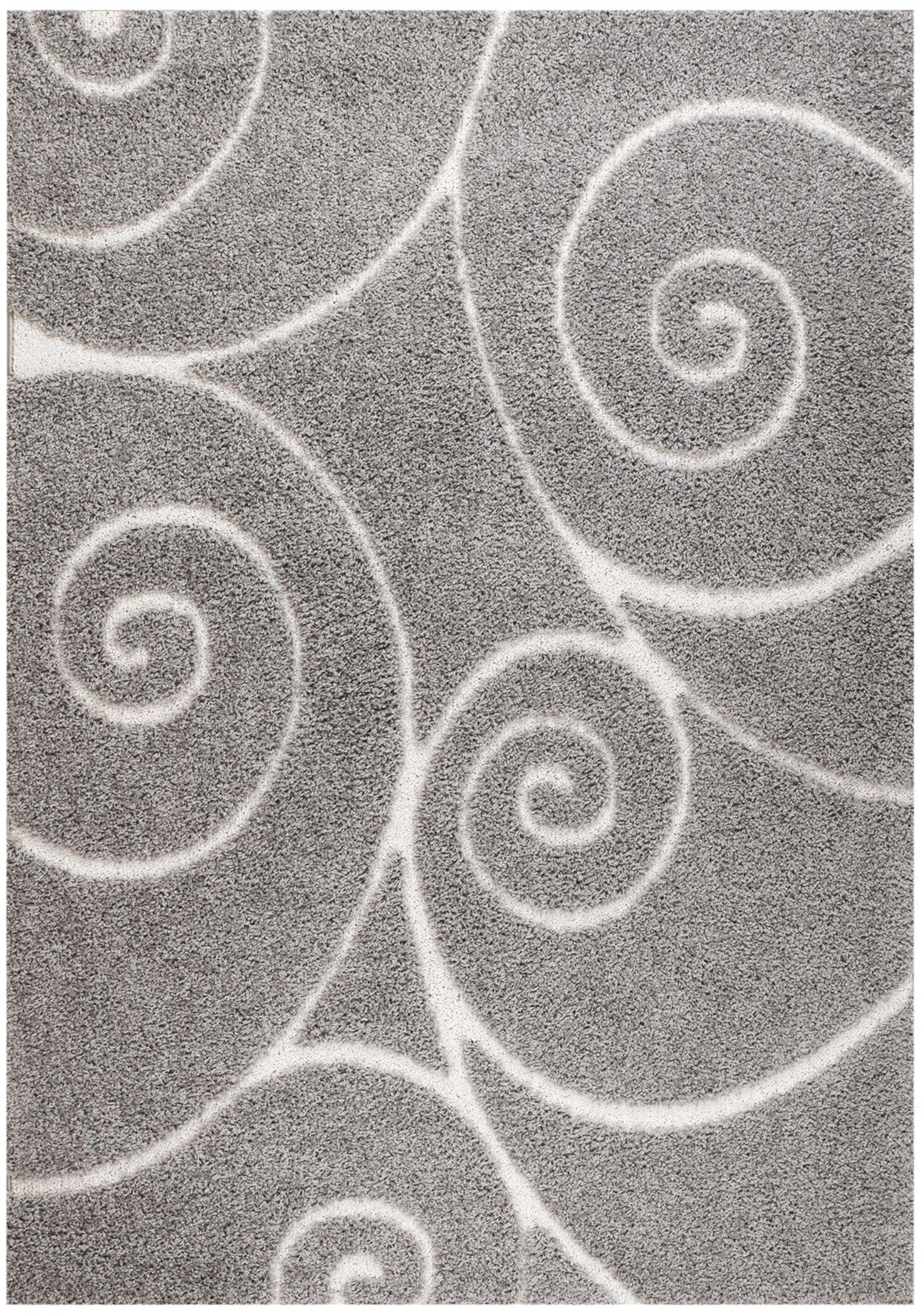 Quaoar Gray Area Rug Rug Size: 8' x 10'