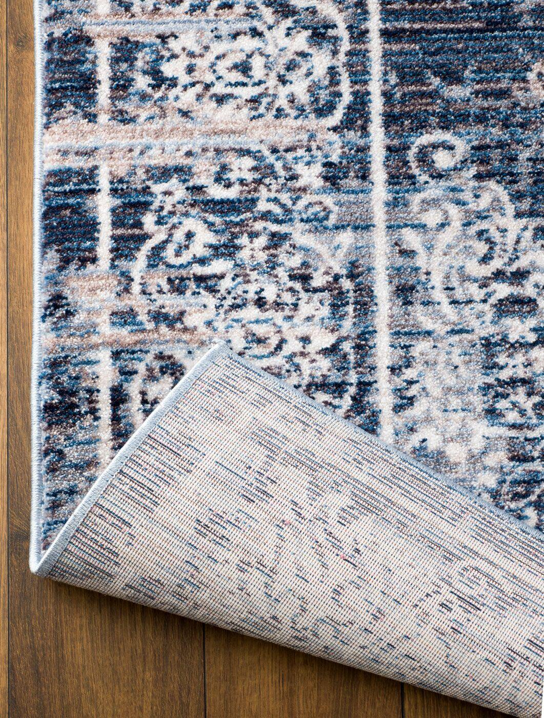 Andrews Blue Area Rug Rug Size: Rectangle 7'11