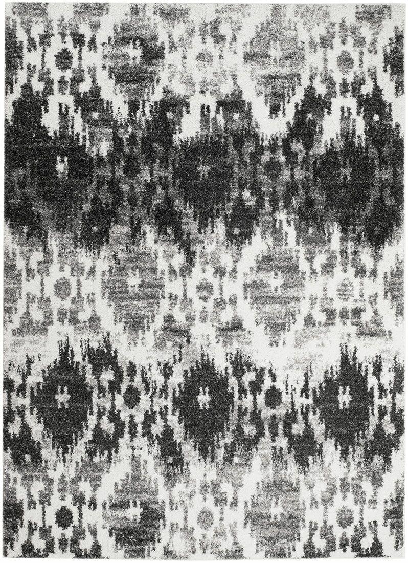 Bobington White/Gray Area Rug Rug Size: 5' x 7'