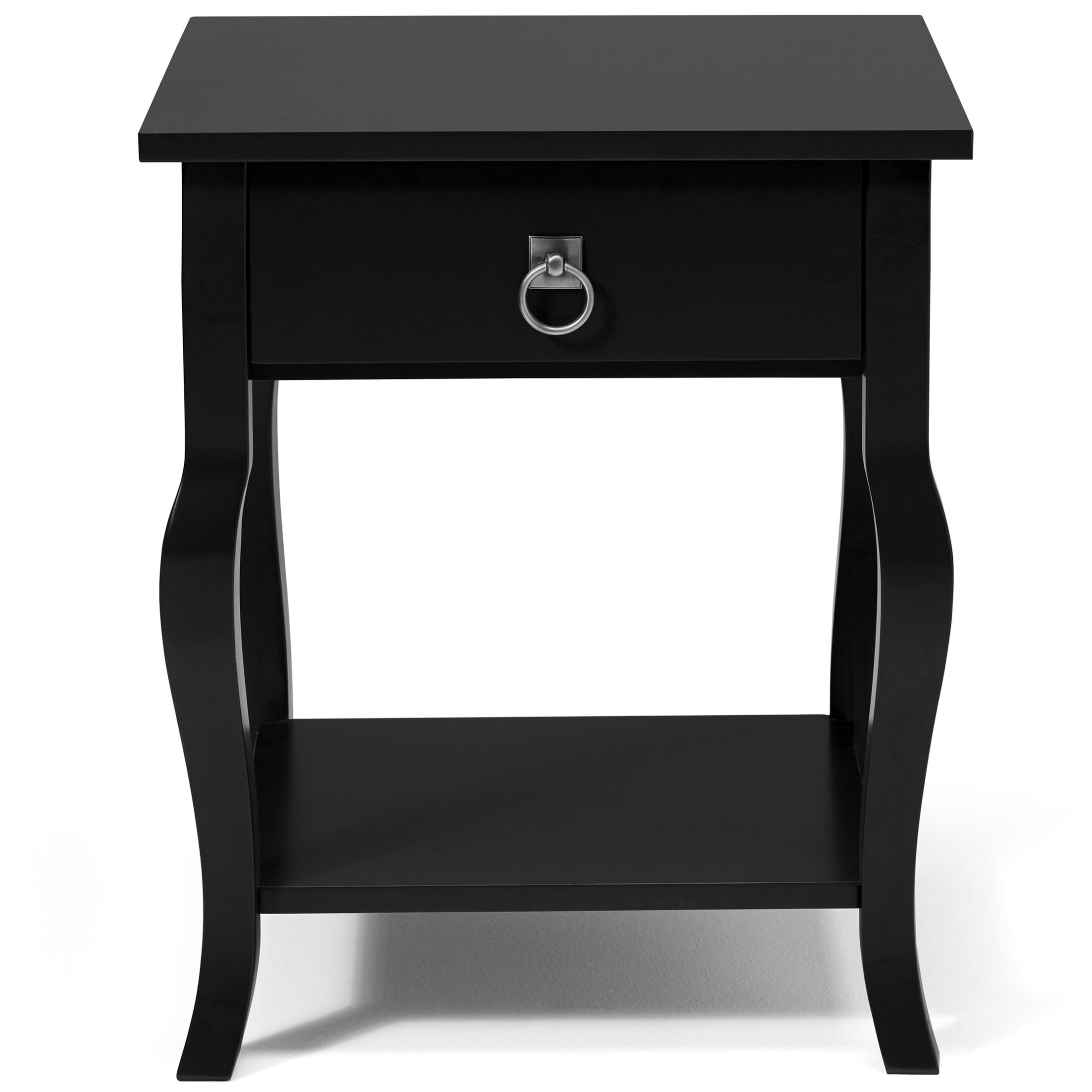 Danby End Table With Storage Color: Satin Black