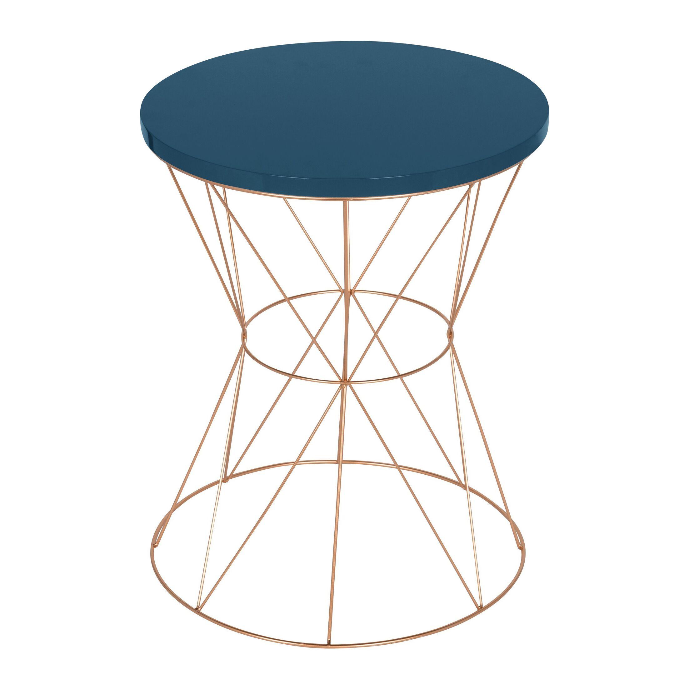 Galien End Table Table Top Color: Blue