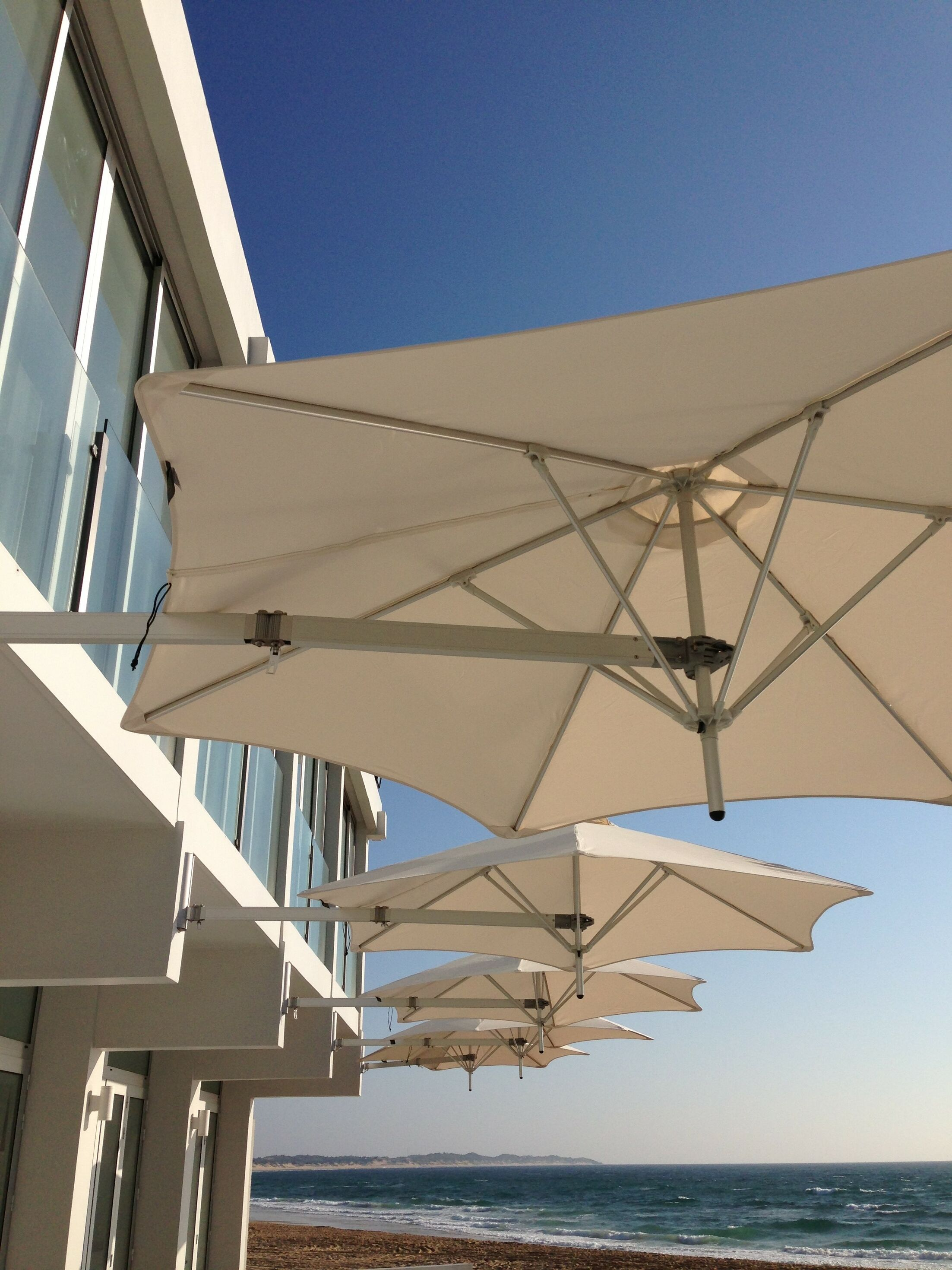 Paraflex 9' Wall Mount Umbrella Fabric: Sunbrella Acrylic - Natural White