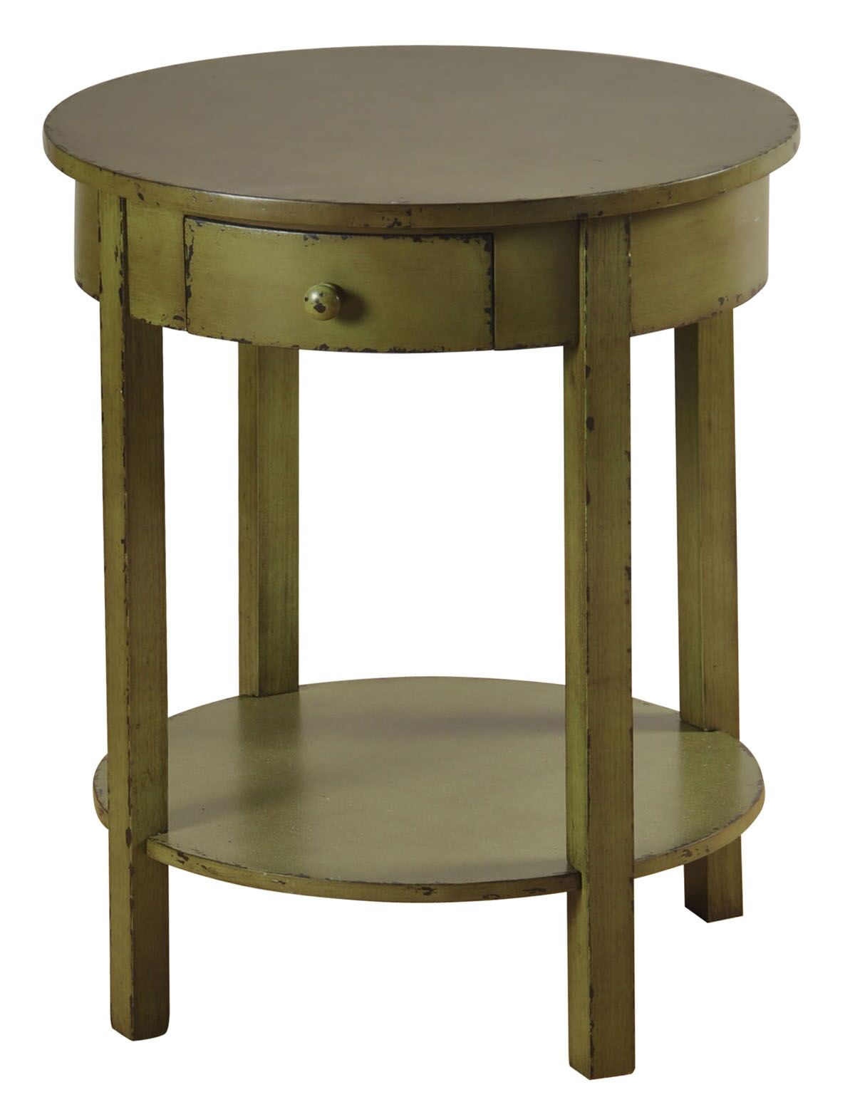 Beauford 1 Drawer End Table Color: Green