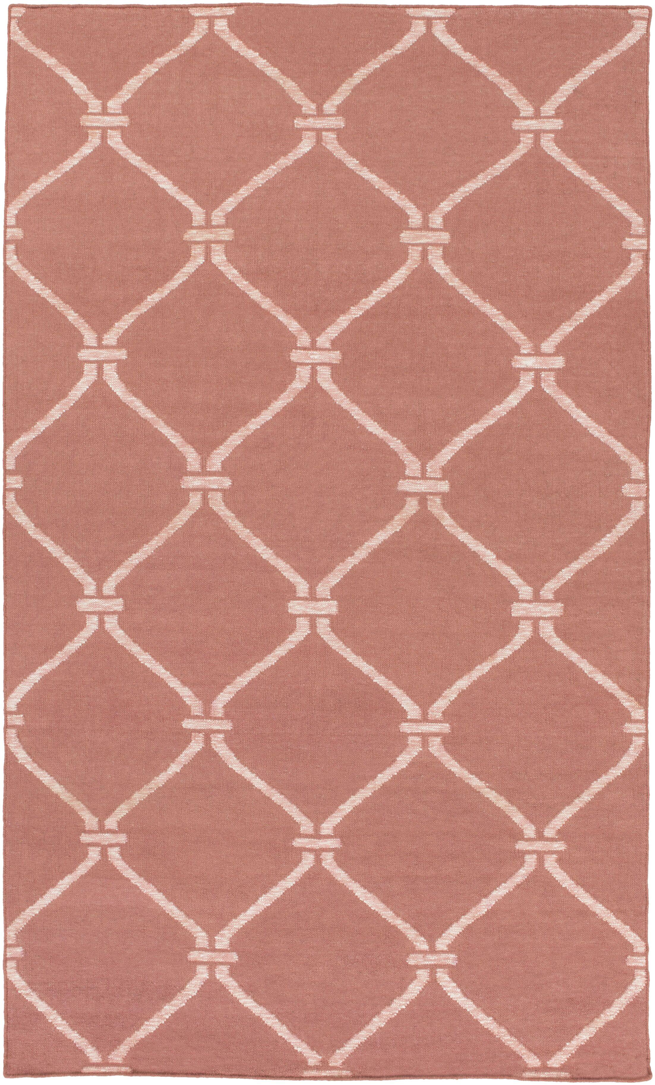 Landing Hand Woven Pink Area Rug Rug Size: Rectangle 8' x 10'
