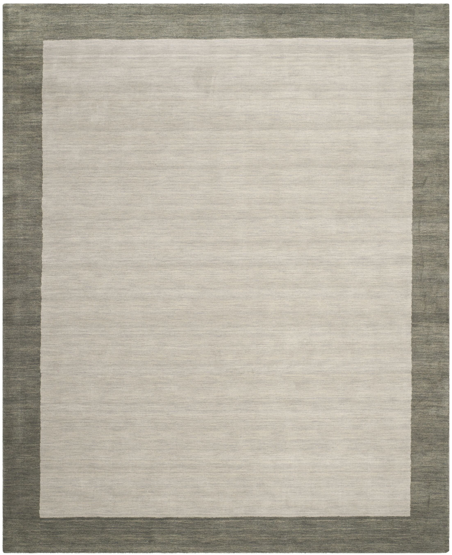 Southbury Wool Light Gray Area Rug Rug Size: Rectangle 10' x 14'