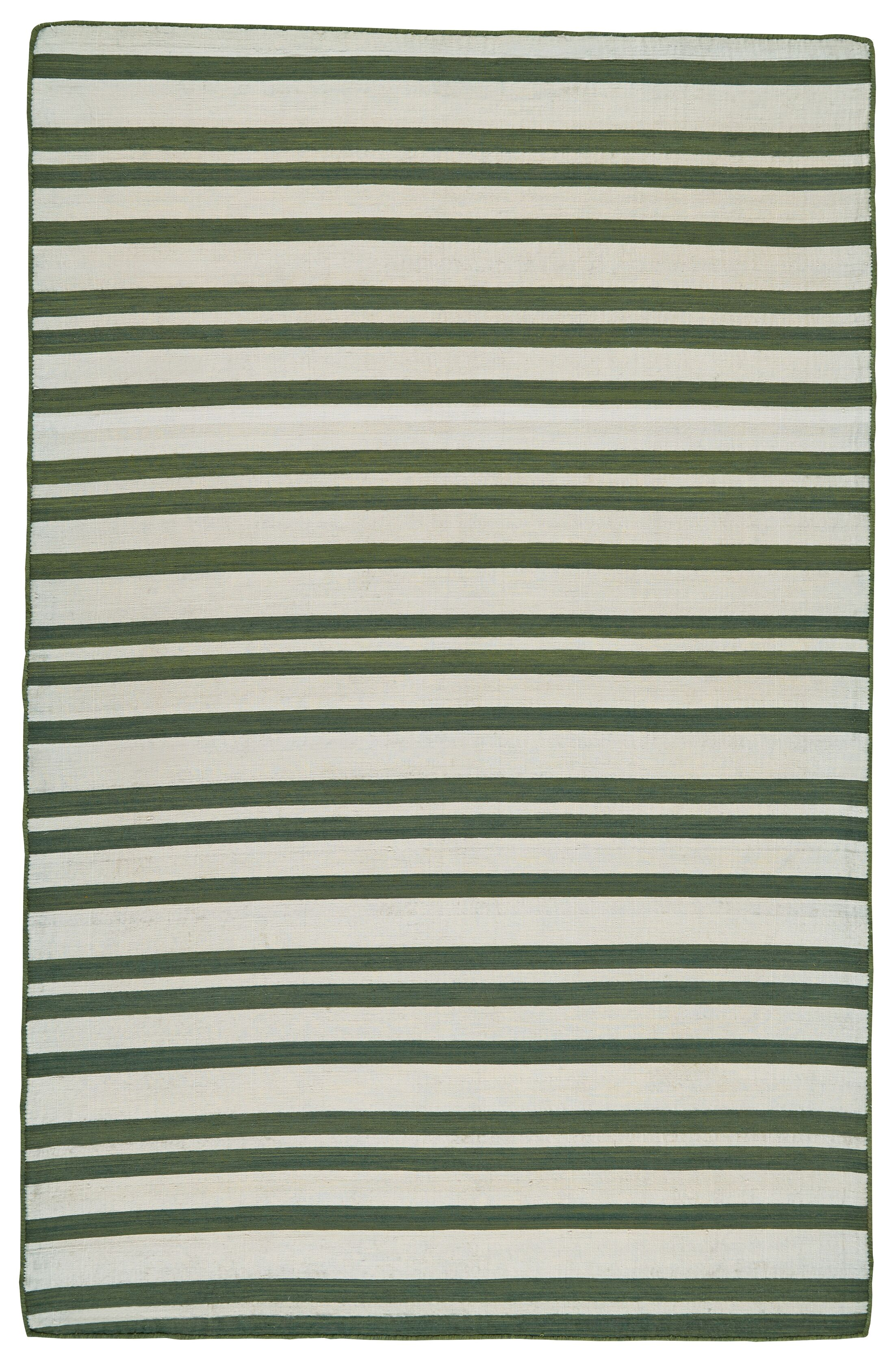 New Portland Hand-Loomed Olive Indoor/Outdoor Area Rug Rug Size: Rectangle 2' x 3'