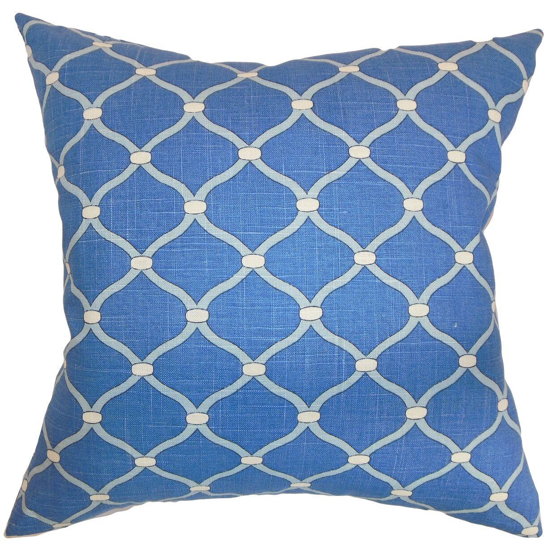 Canterbury Geometric Cotton Throw Pillow Size: 20
