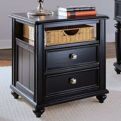 Wheelock Side Table Color: Black