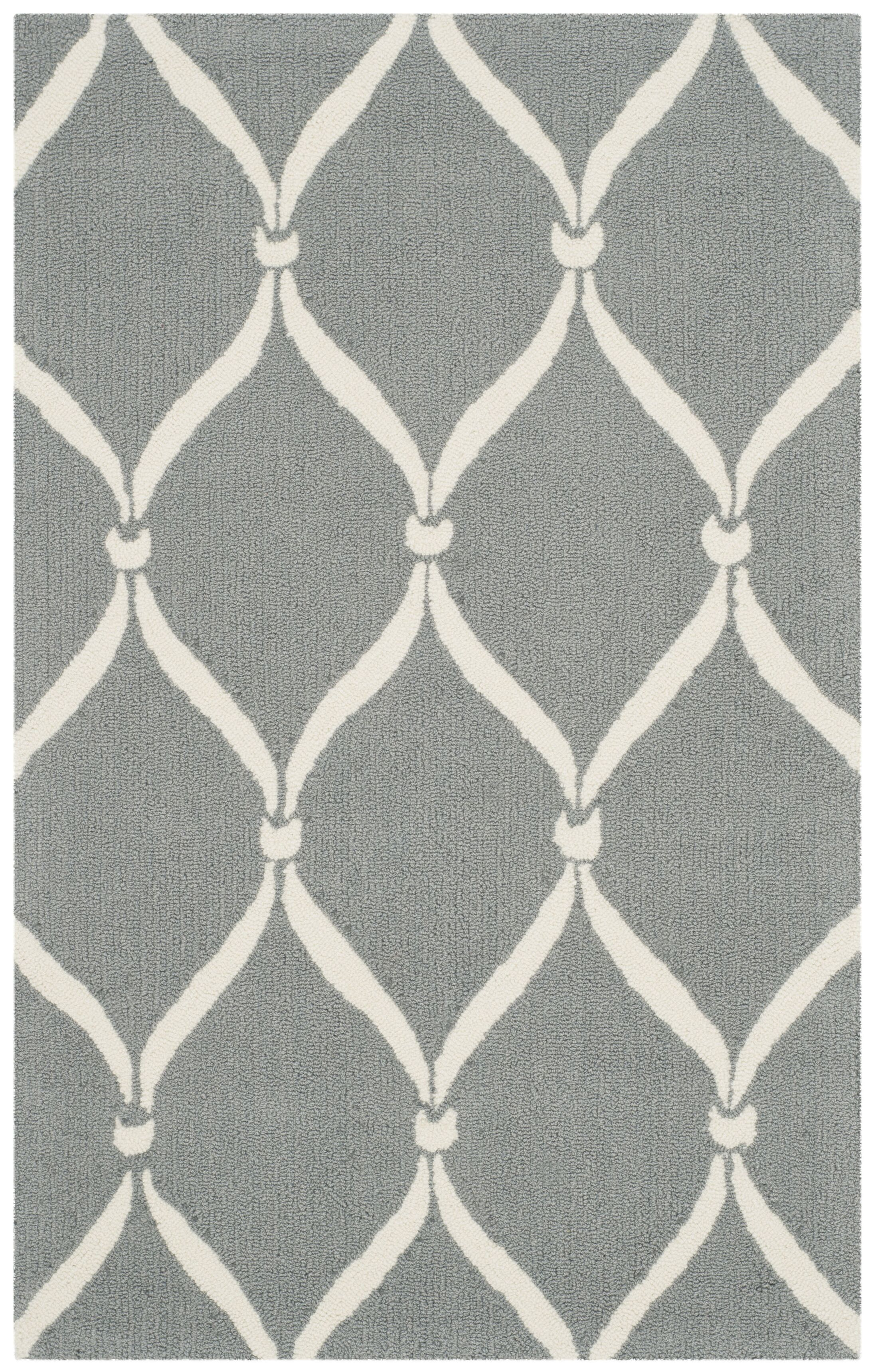 Coventry Gray/Ivory Area Rug Rug Size: Rectangle 8' x 10'