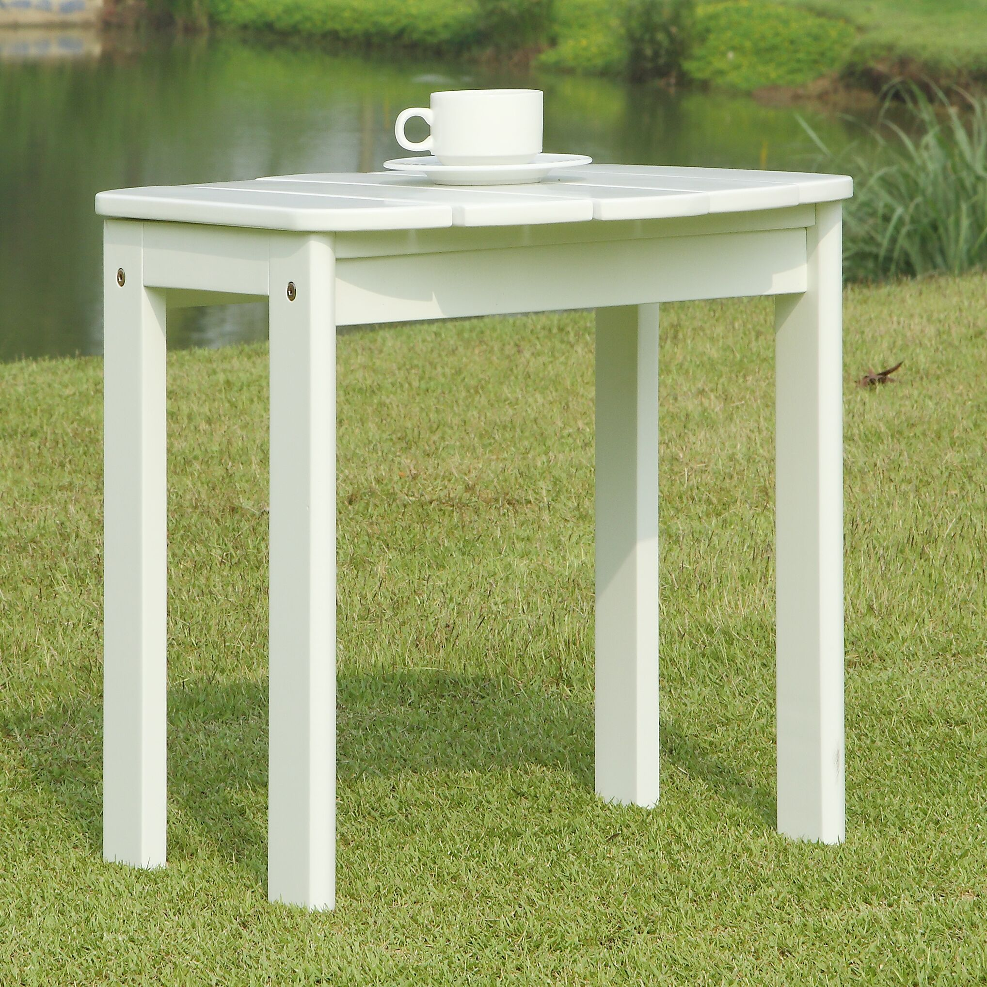 Lighthouse Cove Side Table Finish: White