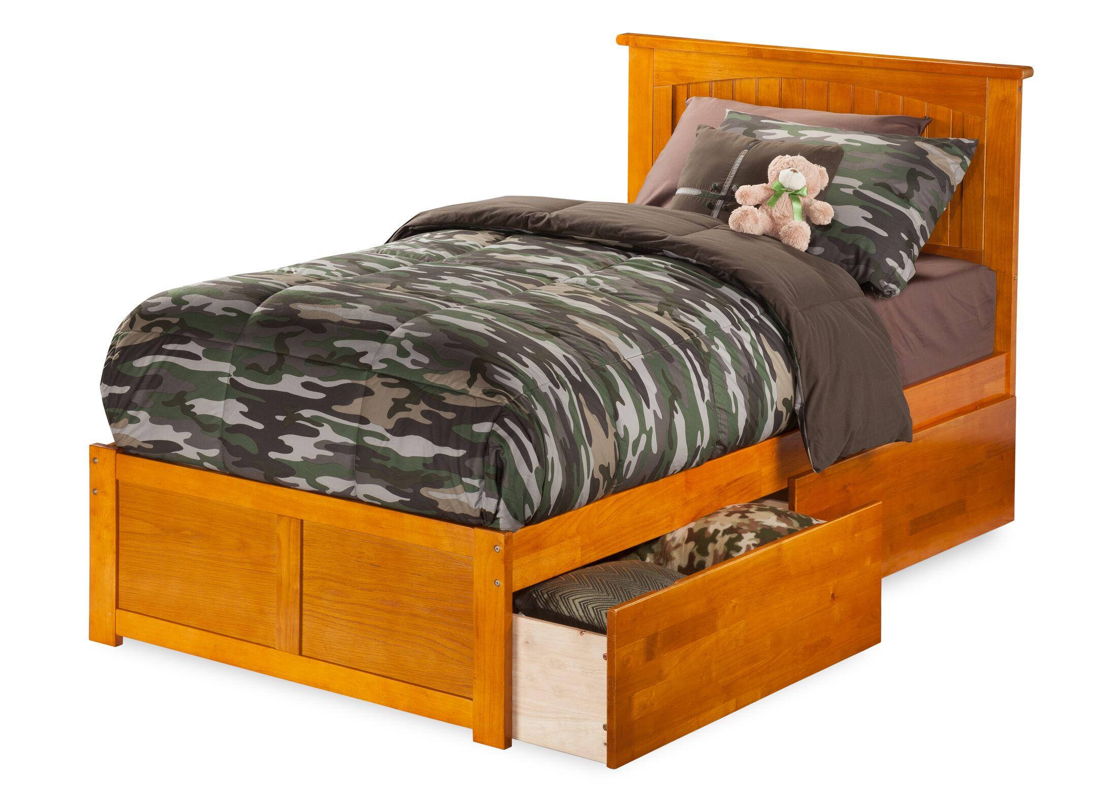 Graham Storage Platform Bed Color: Caramel Latte, Size: Twin