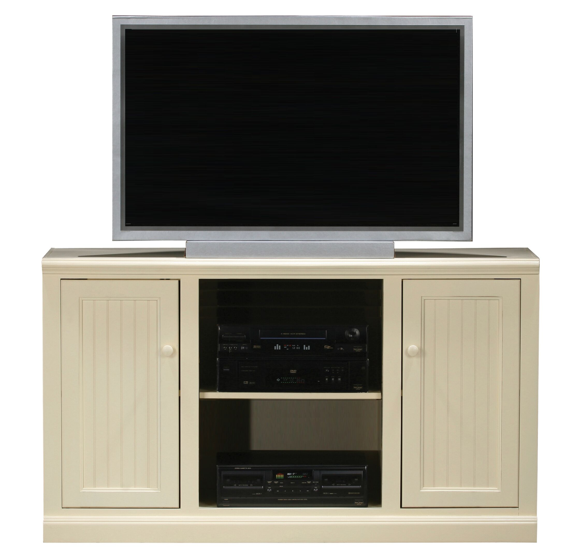 Didier Birchwood TV Stand Color: Soft White