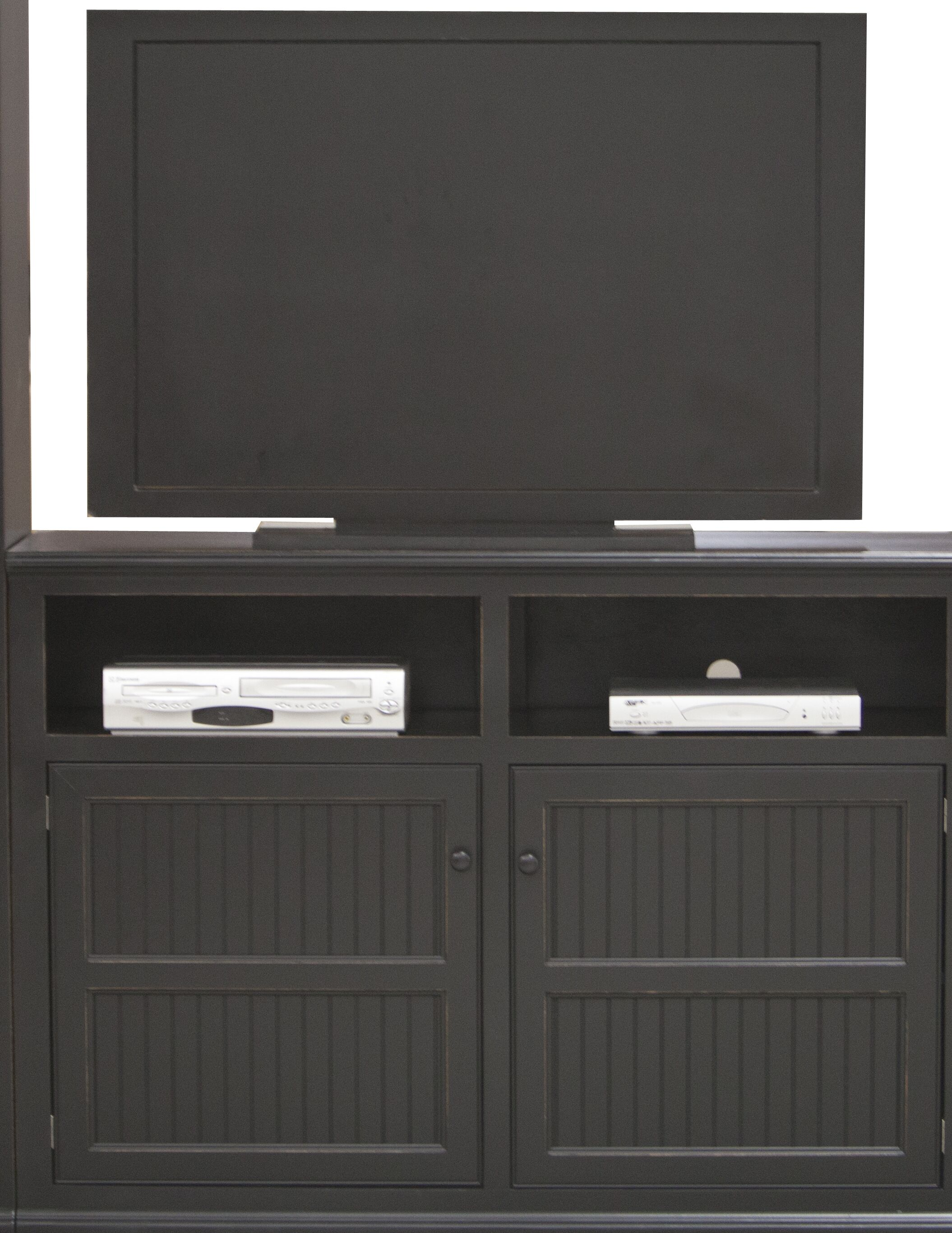 Didier Country Birchwood TV Stand Door Type: Wood, Color: Hazy Sunrise