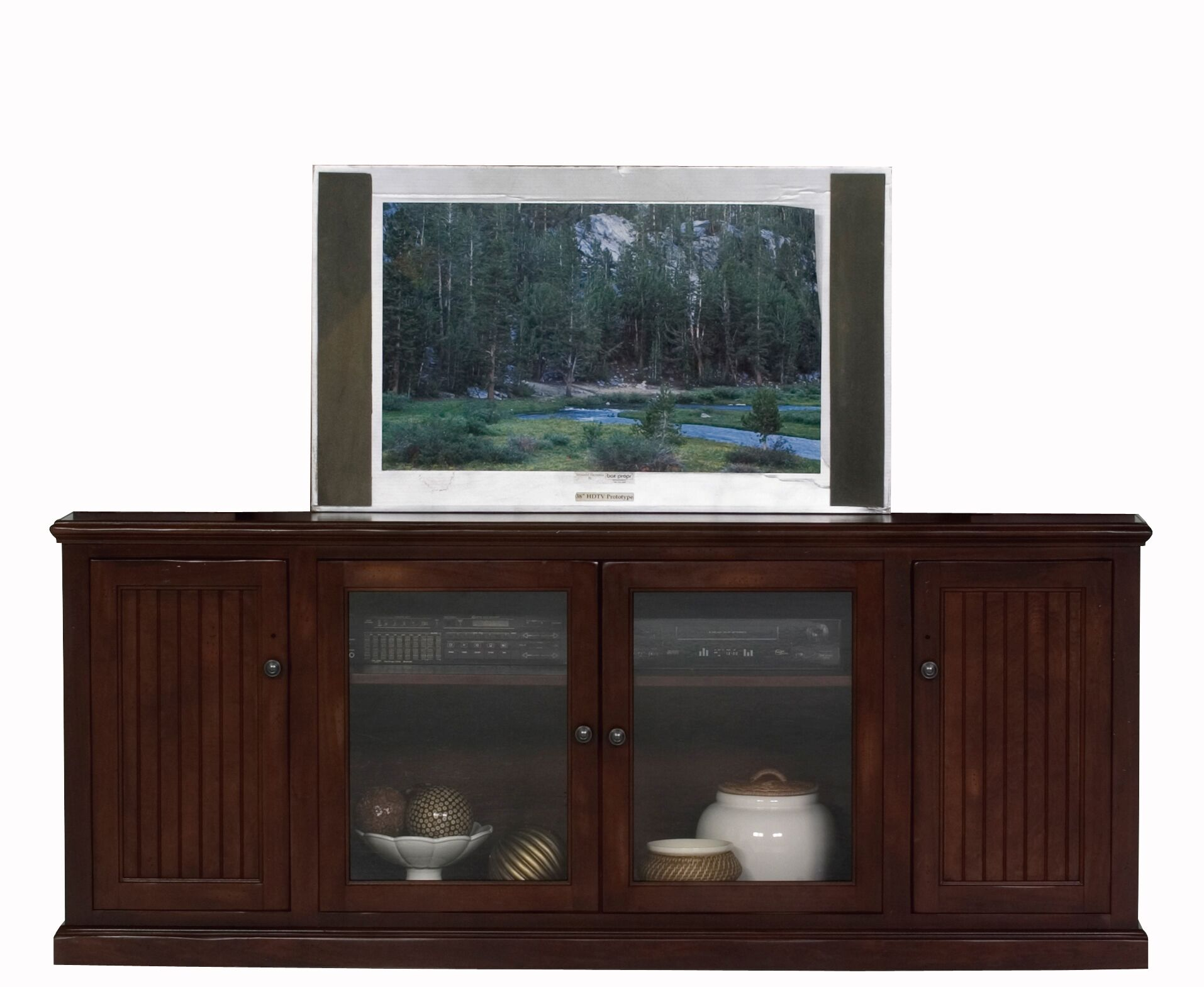 Didier Wood TV Stand Color: European Cherry