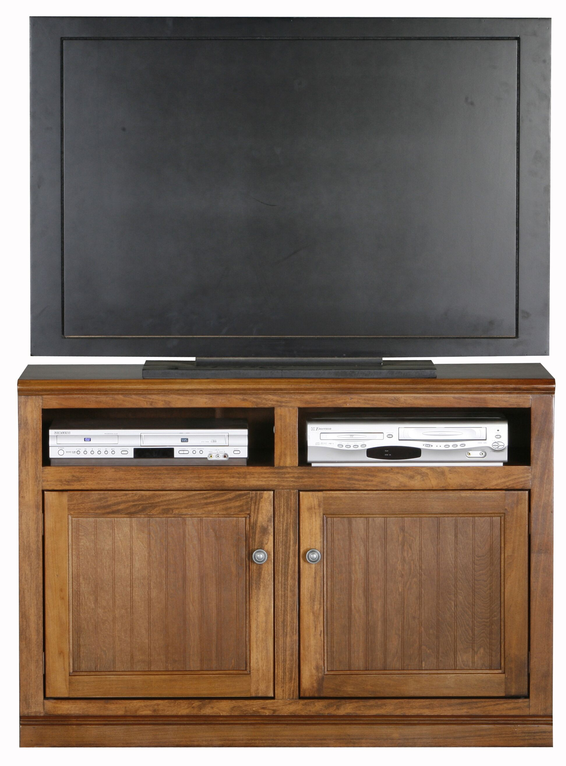Didier 2 Doors Birchwood TV Stand Color: Soft White, Door Type: Wood