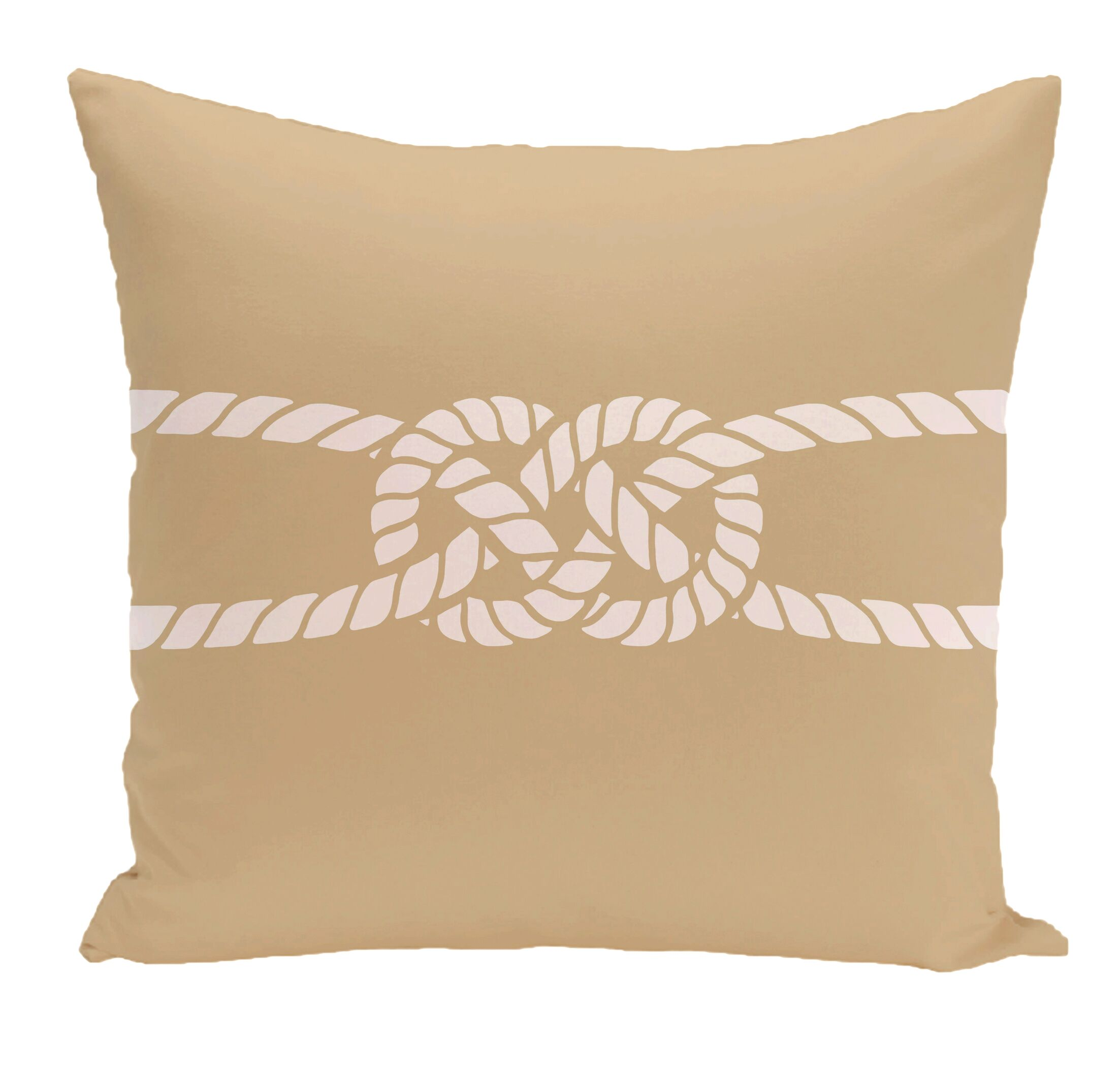 Hancock Carrick Bend Geometric Outdoor Throw Pillow Color: Beige/Taupe, Size: 16
