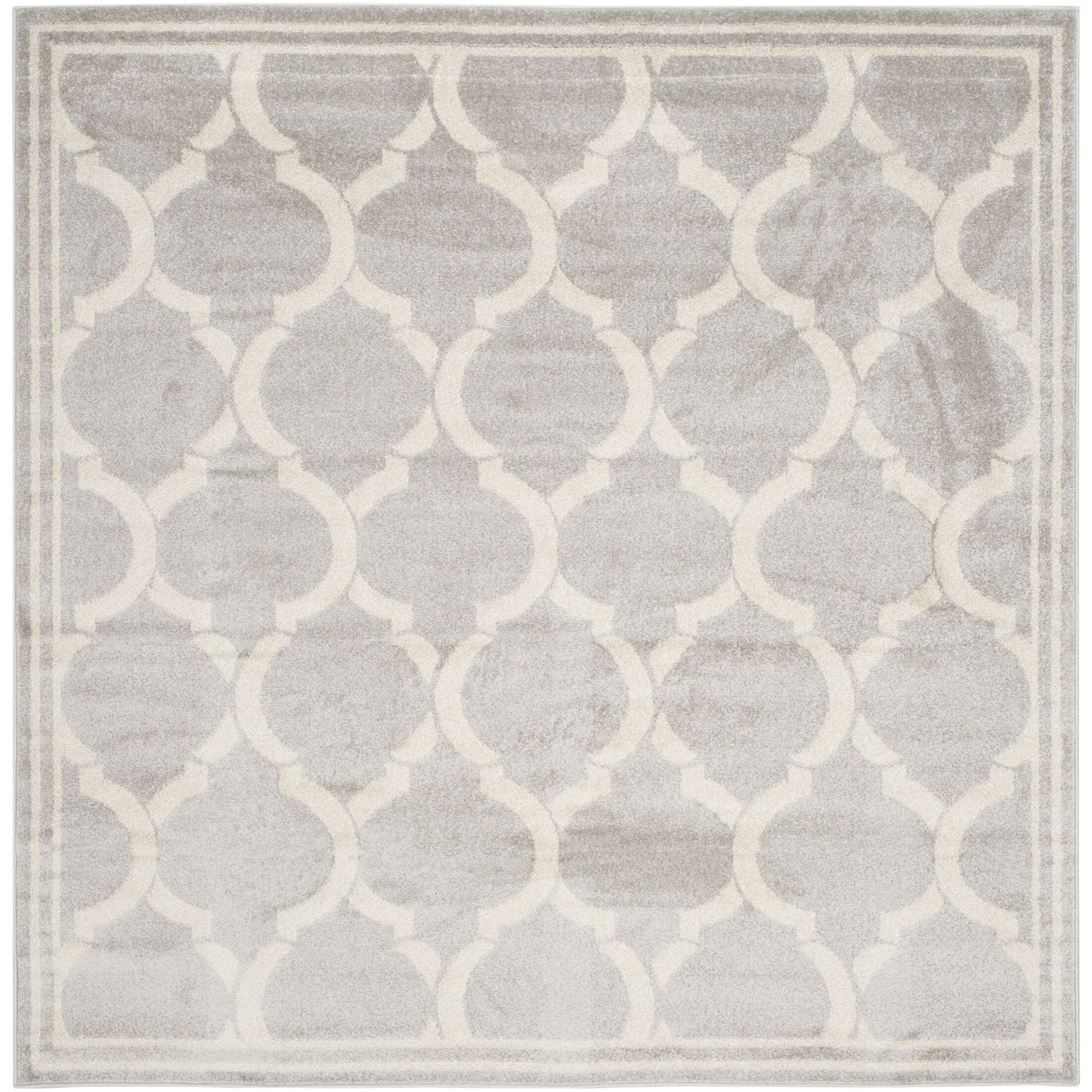 Maritza Light Gray / Ivory Indoor/Outdoor Area Rug Rug Size: Square 7'