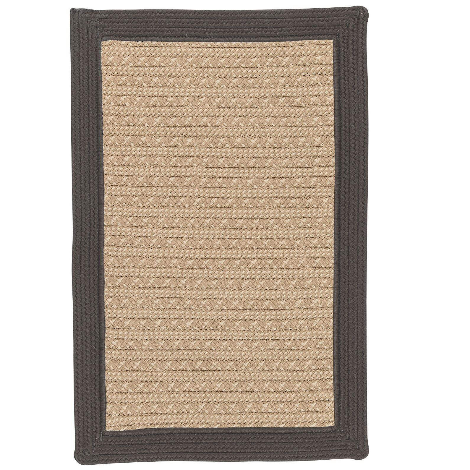 Dartmouth Hand-Woven Gray Indoor/Outdoor Area Rug Rug Size: 8' x 10'