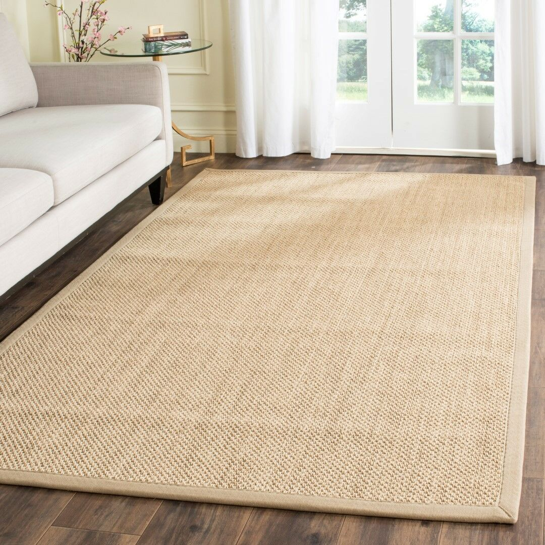 Benevides Maize / Linen Area Rug Rug Size: Round 8'
