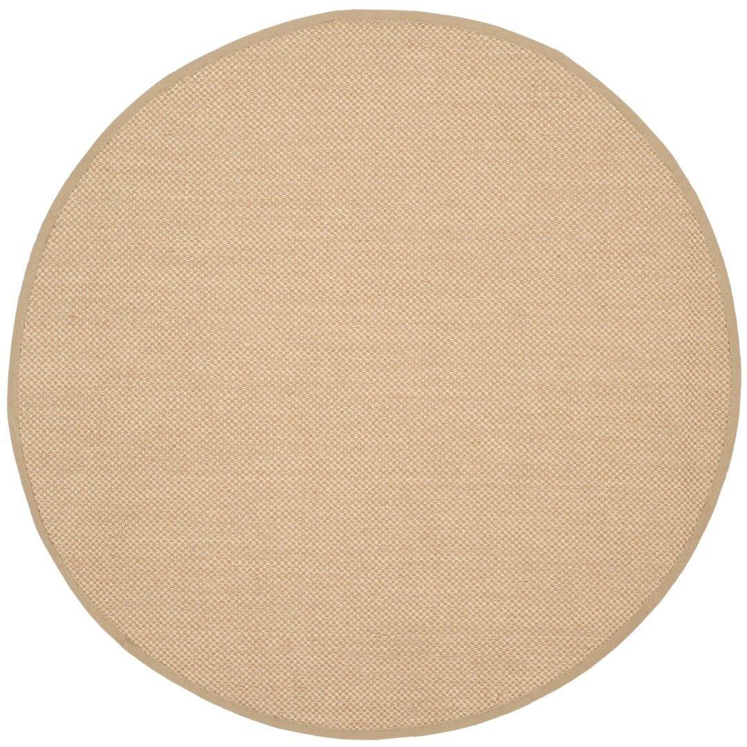 Benevides Maize / Linen Area Rug Rug Size: Round 6'