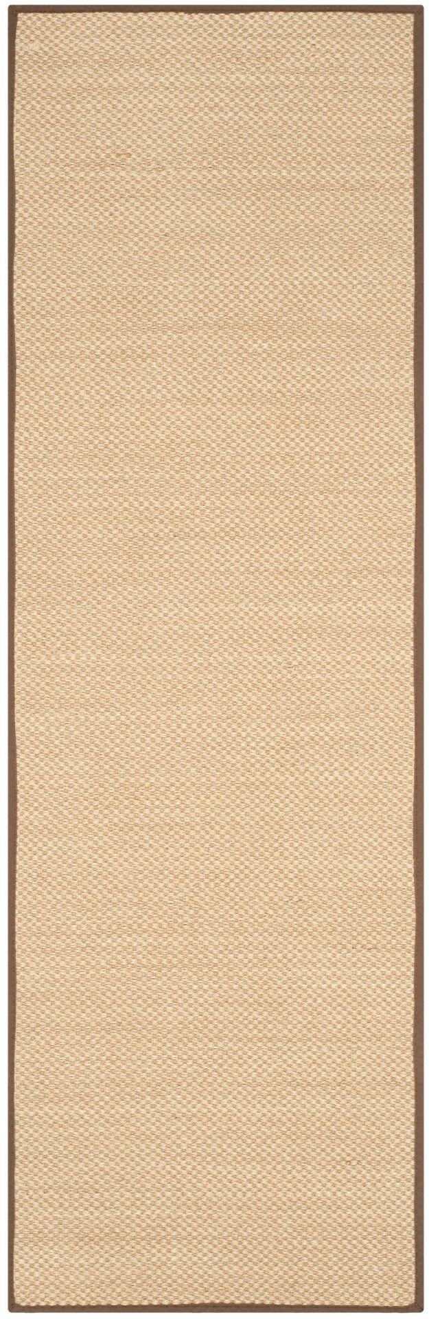 Hillsborough Maize / Brown Area Rug Rug Size: Runner 2'6