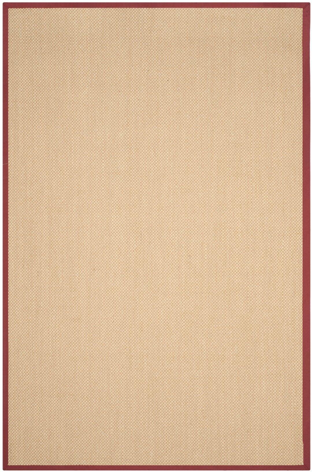 Hillsborough  Beige / Burgundy Area Rug Rug Size: Rectangle 5' x 8'