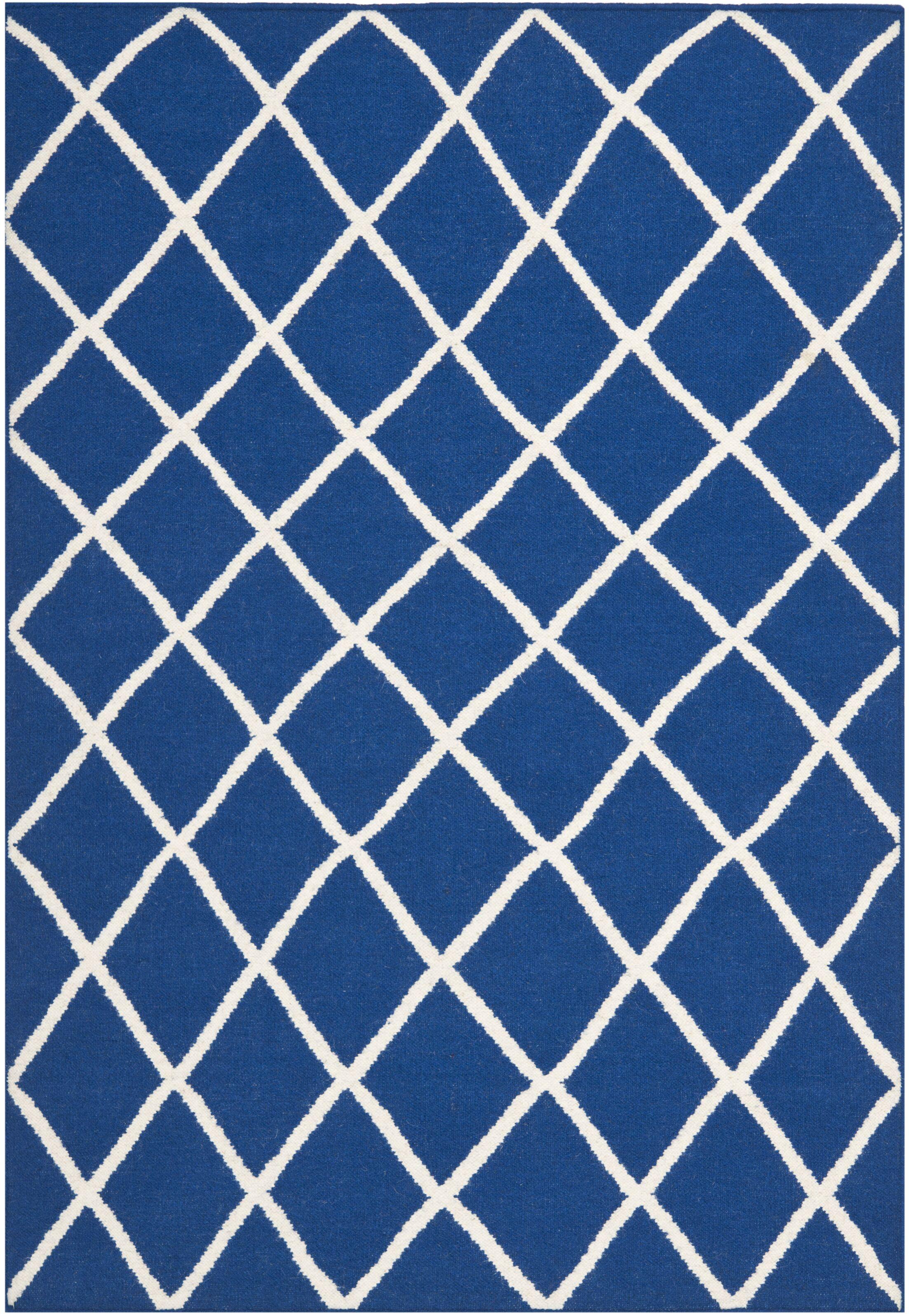 Blaisdell Hand-Woven Dark Blue Area Rug Rug Size: Rectangle 9' x 12'