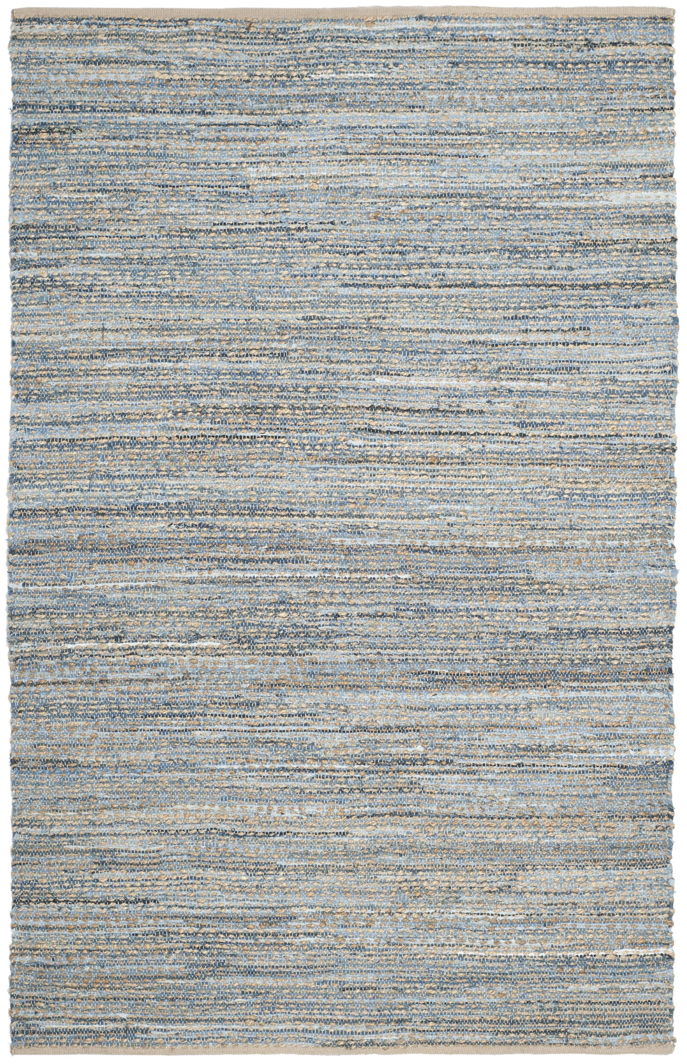 Gilchrist Hand-Woven Natural/Blue Area Rug Rug Size: Rectangle 2'-3