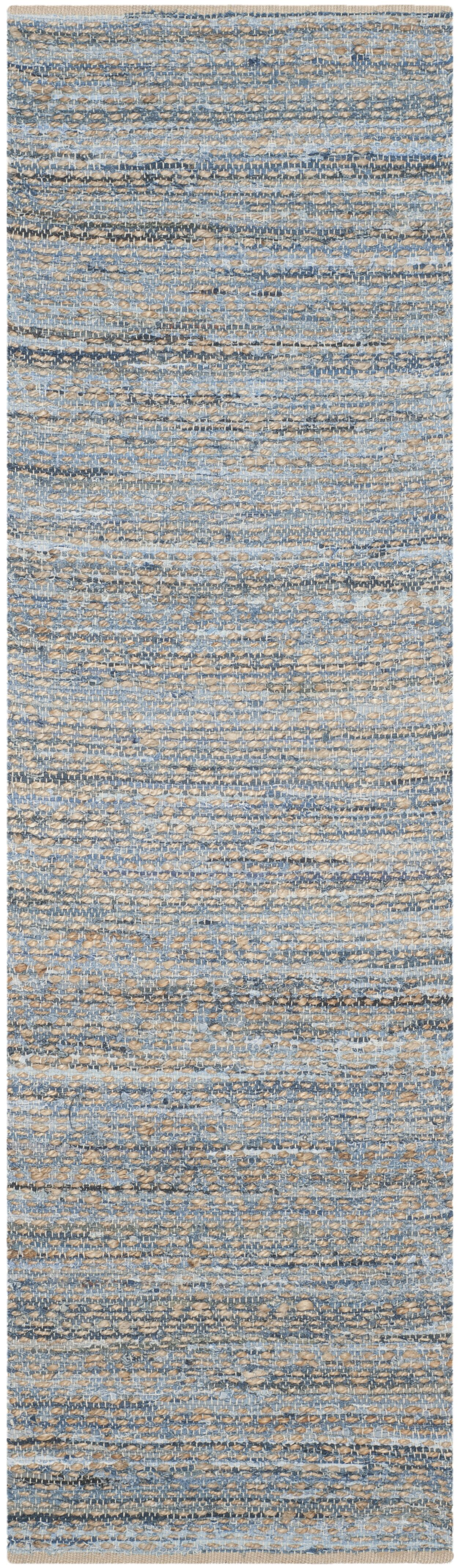 Gilchrist Hand-Woven Natural/Blue Area Rug Rug Size: Runner 2'3